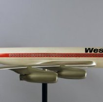 Image of Western Airlines Boeing 707 Model Airplane  - 1970s