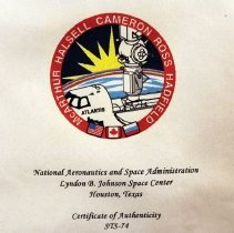 Image of NASA Certificate of Authenticity