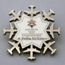 Image of Delta Proud Sponsor 2002 Olympic Winter Games Pin - 2002