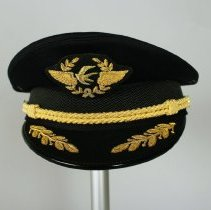 Image of China Eastern Airlines Pilot Uniform Hat and Captain's Insignia - 2015