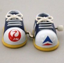 Image of Delta-Japan Airlines Mechanical Feet Toy - 1986