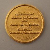 Image of Delta Scholar-Athlete Award to Alec Kessler Medallion - 1990