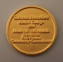 Image of Delta Scholar-Athlete Award to Theresa Shanahan Medallion - 1990