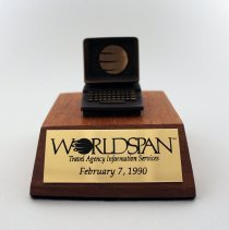 Image of Worldspan Plaque - 1990