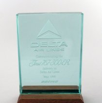 Image of Delta's First Boeing 767-300ER Delivery Plaque - 1990