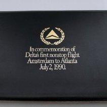 Image of Delta Amsterdam-Atlanta Inaugural Commemorative