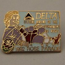 Image of Delta 1992 Rose Parade Pin - 01/1992