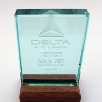 Image of Delta's 50th 767 Delivery Plaque