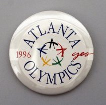 Image of 1996 Atlanta Olympics Yes Promotional Button - ca. 1990