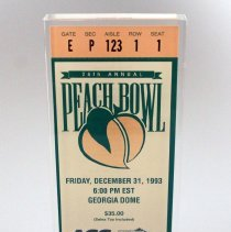 Image of 26th Annual Peach Bowl Commemorative - 12/31/1993