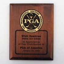 Image of Whit Hawkins' PGA of American Plaque - 1990s