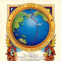 Image of Delta Air Lines International Dateline Award - 03/04/1987
