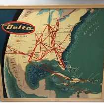 Image of Delta Route Map Sign - 1957-1961