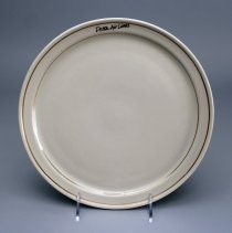 """Image of Delta """"Signature-Ivory"""" Dinner Plate - 1985-1992"""