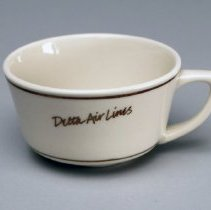 """Image of Delta """"Signature-Ivory"""" Cup and Saucer Set - 1985-1992"""