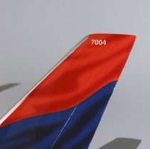 Image of Delta Boeing 777-232ER, N863DA, Ship 7004 Model Airplane