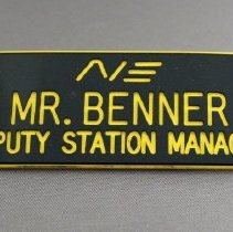 Image of Northeast Airlines Deputy Station Manager Name Badge - 1966-1972