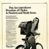 Image of Pan Am Introduces Freedom of Choice in Student and Youth Fares - 06/22/1971