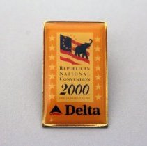 Image of Delta Republican National Convention 2000 Lapel Pin - 7/31/2000 - 8/3/2000
