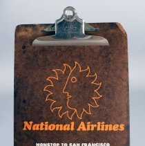 Image of National Airlines Sun King Clipboard - ca. 1968-1980