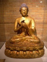 Seated Buddha on a Lotus,  (Ming Dynasty, 1403-1644)