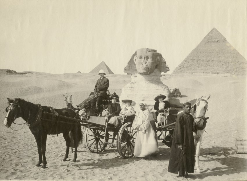 The Audigiers at the Sphinx in Egypt