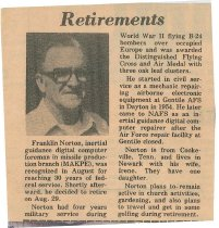 Image of Retirement clipping