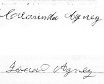 Image of 1879agney, Clarinda And Isaac Signatures