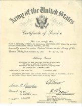 Image of Certificate Of Service