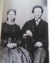 Image of Photo from early 1860s with wife Mary