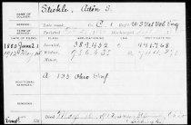 Image of Stickle, Adin S Pension File 2