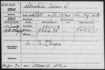 Image of Stickle, Adin S Pension File