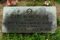 Image of Carl M Beckham Collection - Veteran record