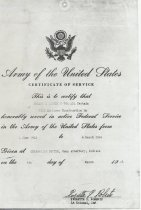 Image of 16 1943-46 Certificate Of Service