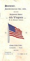 Image of 1952.21.2 - Souvenir Roster of the 4th Virginia Regiment Spanish American War Volunteers