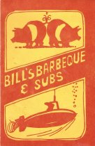 Image of 1999.20.1 - Breakfast Menu - Bill's Barbeque & Subs