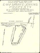Image of 2011.22.362 - Girard Chambers Maps and Surveys (File Drawer F): South Fox Hill Methodist Church plat