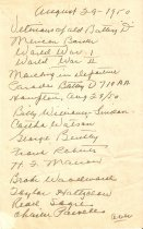 Image of 1986.31.11 - List of Veterans of Battery D (series 1)