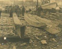 Image of 2008.63.11 - Log Canoe Construction Process