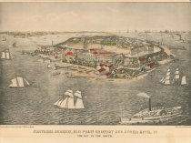 Image of 1953.10.1 - Lithograph of Fort Monroe 1859