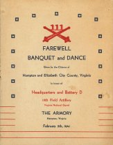 Image of 1984.121.1 - Farewell Banquet and Dance for Battery D