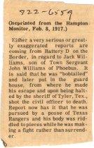Image of 1984.79.2 - Article describing Battery D incident