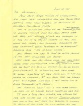 Image of 1987.9.1 - Letter Describing Alice Moore Collection and Study of Helen Keller