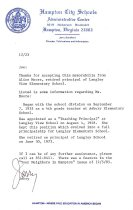 Image of 1987.9.2 - Letter from Jerry Sandford describing career of Alice Moore