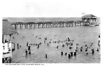Image of 2009.15.6231 - The Bathers and Fishing Pier, Buckroe Beach, Va.