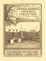 Image of 1986.20.2 - Esther Burdick Memorial Library Bookplate
