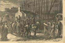 Image of HW.160.p52a - Colored Troops, Under General Wild, Liberating Slaves in North Carolina