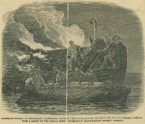 Image of Rescuing the 9-inch Sawyer Gun from the Burning Steamer Cataline