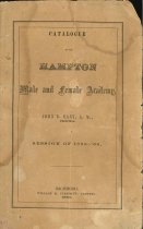 Image of 1952.32.1 - Catalogue of the Hampton Male and Female Academy, 1859-60