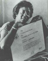 Image of Portrait of Lillian E. Johnson with Congressional Award.